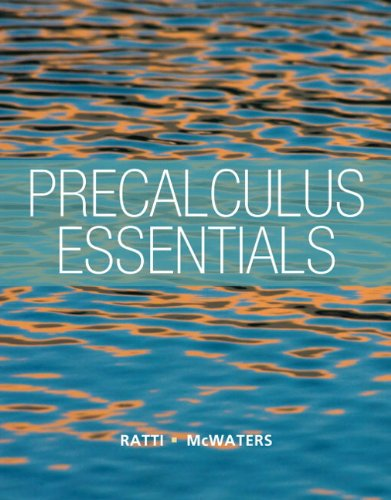 Precalculus Essentials: McWaters, Marcus S.,