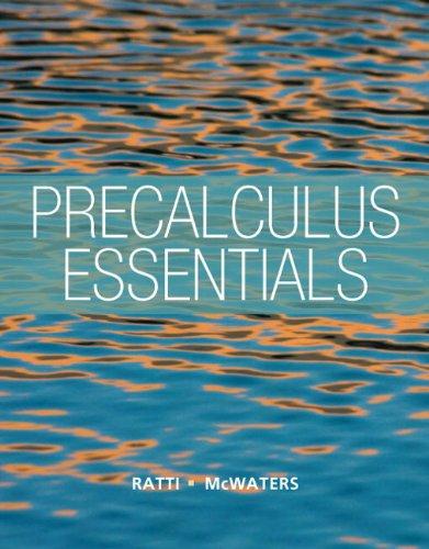 9780321816962: Precalculus Essentials