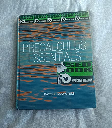 9780321816979: Precalculus Essentials