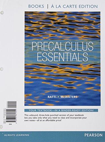 9780321817051: Precalculus Essentials, Books a la Carte Edition