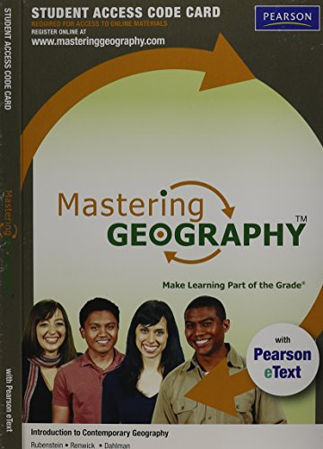 MasteringGeography? with Pearson eText -- Standalone Access: Rubenstein, James M.Renwick,