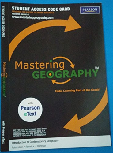 MasteringGeography with Pearson Etext -- Valuepack Access: James M. Rubenstein