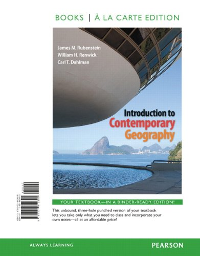 Introduction to Contemporary Geography, Books a la: Rubenstein, James M.,