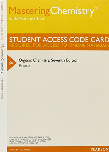 9780321820020: MasteringChemistry with Pearson eText -- ValuePack Access Card -- for Organic Chemistry (ME Component)
