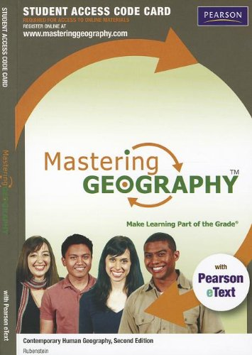 9780321821218: MasteringGeography with Pearson eText -- Standalone Access Card -- for Contemporary Human Geography (2nd Edition)