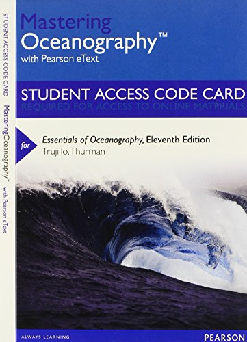 9780321823526: MasteringOceanography with Pearson eText -- Standalone Access Card -- for Essentials of Oceanography (11th Edition)