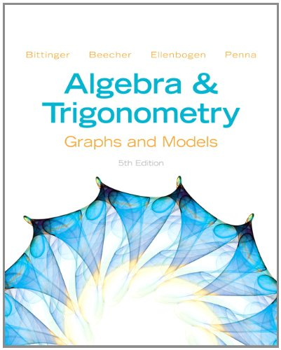 9780321824226: Algebra and Trigonometry: Graphs and Models and Graphing Calculator Manual Package (5th Edition)