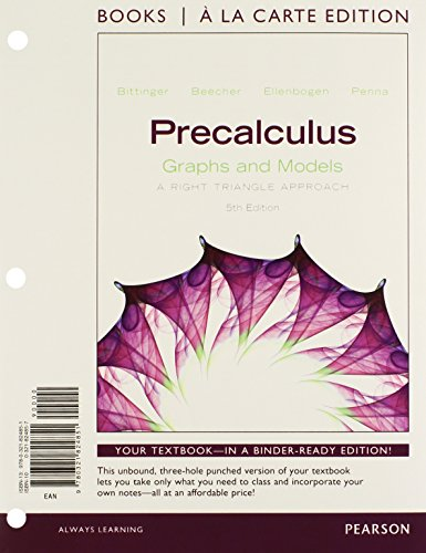 9780321824851: Precalculus: Graphs and Models, Books a la Carte edition (5th Edition)