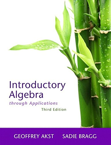 9780321825131: Introductory Algebra through Applications, 3rd Edition