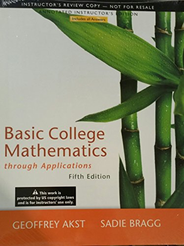 9780321825155: Annotated Instructor's Edition for Basic College Mathematics through Applications, 5th Edition