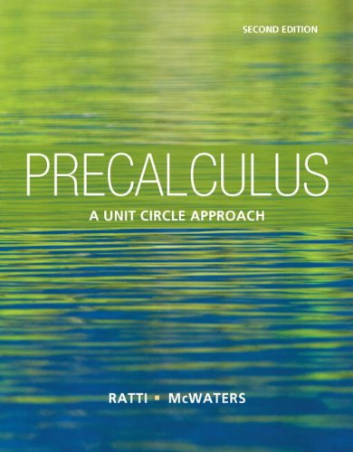 9780321825391: Precalculus: A Unit Circle Approach (2nd Edition)