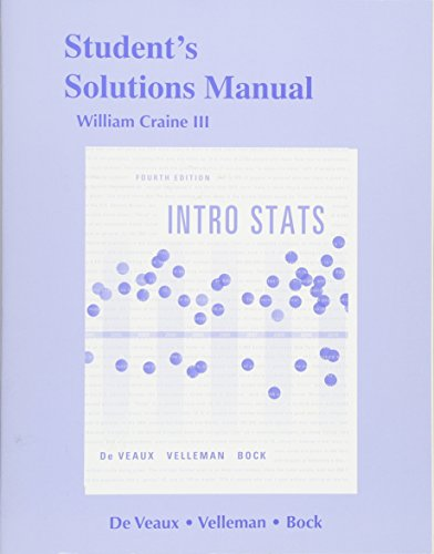 9780321825483: Student's Solutions Manual, Intro Stats