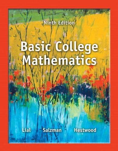 Basic College Mathematics (9th Edition): LIAL
