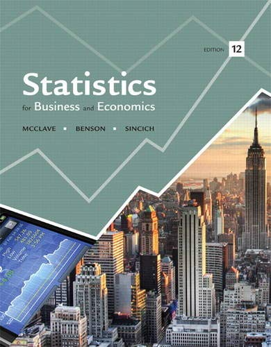 9780321826237: Statistics for Business and Economics (12th Edition)