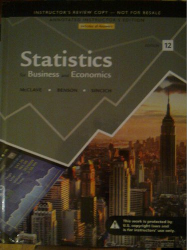 9780321826428: Statistics For Business And Economics (Annotated Instructor Edition)