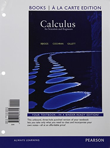9780321826725: Calculus for Scientists and Engineers, Books a la Carte Edition