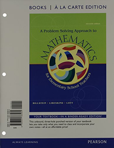 9780321828019: A Problem Solving Approach to Mathematics for Elementary Teachers, Books a la Carte Edition Plus MyMathLab -- Access Card Package (11th Edition)