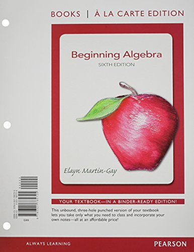 9780321828033: Beginning Algebra, Books a la Carte Edition Plus NEW MyMathLab with Pearson eText -- Access Card Package (6th Edition)