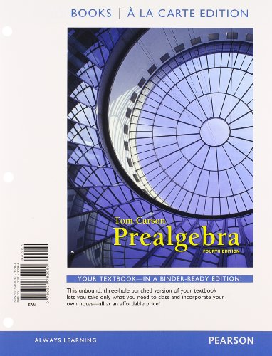 9780321828156: Prealgebra, Books a la Carte Edition Plus NEW MyMathLab with Pearson eText -- Access Card Package (4th Edition)
