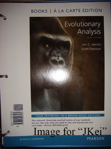 9780321828989: Evolutionary Analysis: International Edition