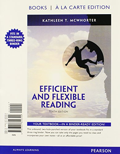 9780321829399: Efficient and Flexible Reading, Books a la Carte Edition (10th Edition)