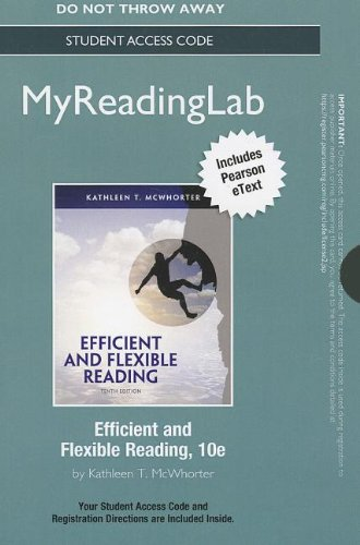 9780321829511: NEW MyReadingLab with Pearson eText -- Standalone Access Card -- for Efficient and Flexible Reading (10th Edition) (Myreadinglab (Access Codes))