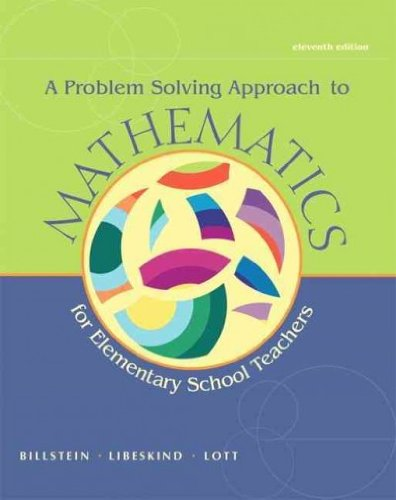 9780321829672: Mathematics Activities for Elementary School Teachers, Problem Solving Approach to Mathematics, and MyMathLab -- Valuepack Access Card (11th Edition)
