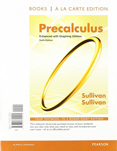9780321832146: Precalculus Enhanced with Graphing Utilities, Books a la Carte Edition Plus NEW MyMathLab with Pearson eText -- Access Card Package (6th Edition)
