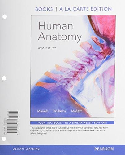 9780321832535: Human Anatomy, Books a la Carte Edition (7th Edition)