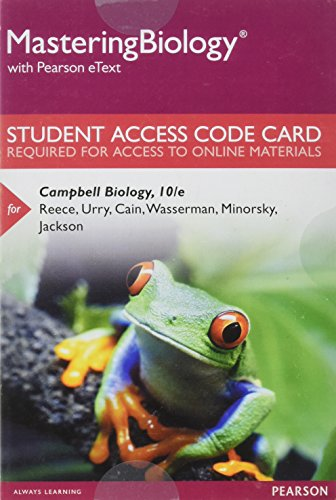 MasteringBiology with Pearson eText -- Standalone Access: Reece, Jane B.,