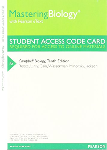 9780321833150: MasteringBiology with Pearson eText -- ValuePack Access Card -- for Campbell Biology
