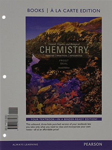 9780321833983: General, Organic, and Biochemistry, Books a la Carte Edition (2nd Edition)