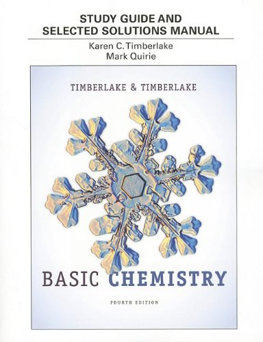9780321834430: Study Guide and Selected Solutions Manual for Basic Chemistry