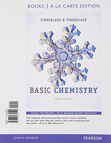Basic Chemistry, Books a la Carte Edition: Timberlake, Karen C.;