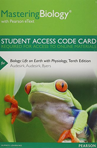 9780321834782: MasteringBiology with Pearson eText -- Standalone Access Card -- for Biology: Life on Earth with Physiology (10th Edition)