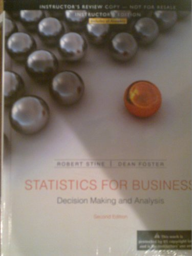 9780321837035: Statistics for Business Decision Making and Analysis (Annotated Instructor Edition)