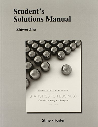 9780321837042: Student's Solutions Manual for Statistics for Business: Decision Making and Analysis