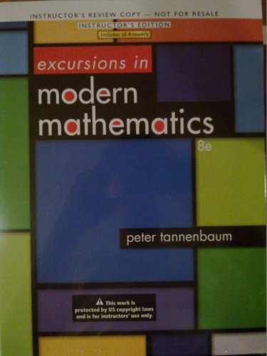 9780321837202: Excursions In Modern Mathematics (Annotated Instructor Edition)