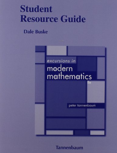 9780321837219: Student Resource Guide for Excursions in Modern Mathematics