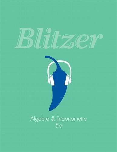 Algebra and Trigonometry (5th Edition): Blitzer, Robert F.