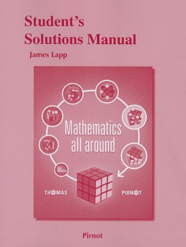 9780321837370: Student Solutions Manual for Mathematics All Around