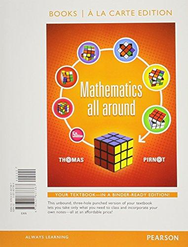 9780321837387: Mathematics All Around, Books a la carte Edition (5th Edition)