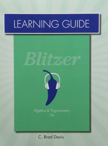 9780321837424: Learning Guide for Algebra and Trigonometry