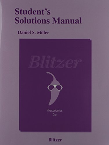 9780321837493: Precalculus Student's Solutions Manual