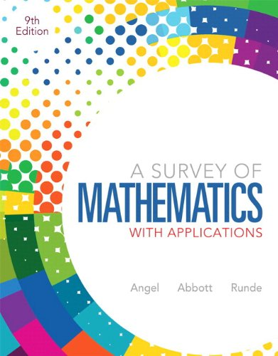 9780321837530: Survey of Mathematics with Applications, A, Plus NEW MyMathLab with Pearson eText -- Access Card Package (9th Edition)