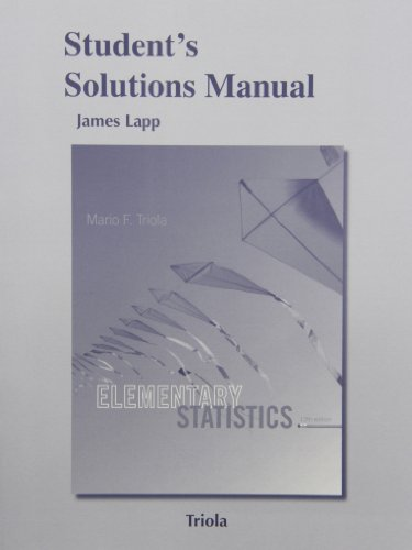 9780321837929: Student's Solutions Manual for Elementary Statistics