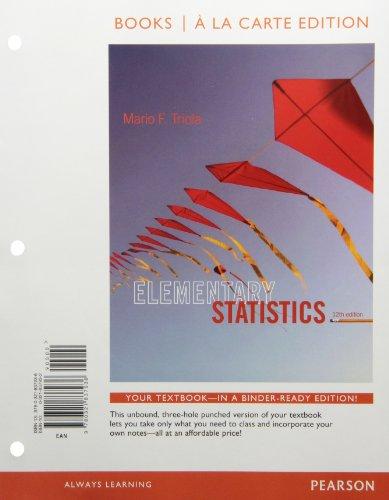 9780321837936: Elementary Statistics, Books a La Carte Edition (12th Edition)