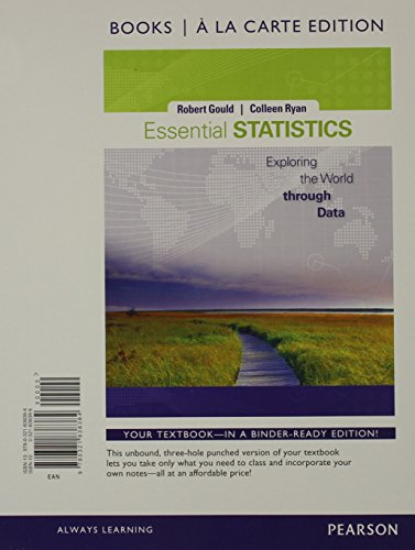 9780321838384: Essential Statistics, Books a la Carte Edition