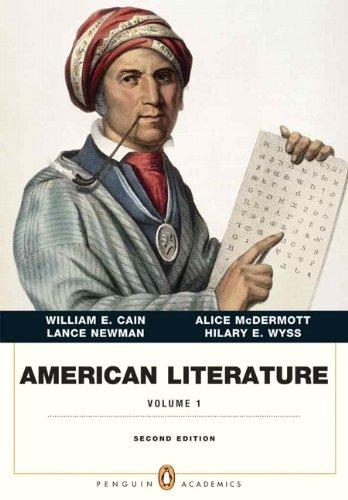 9780321838643: American Literature, Volume I (Penguin Academics Series) (2nd Edition)