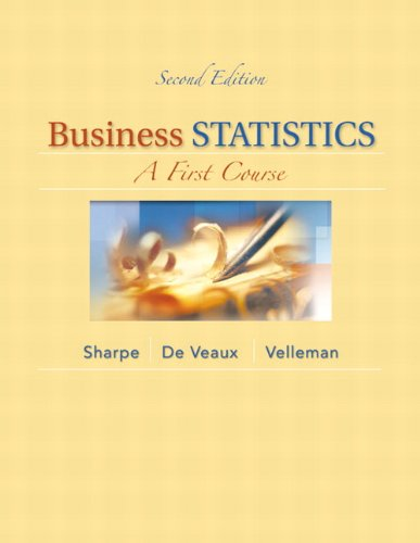 9780321838698: Business Statistics: A First Course (2nd Edition)